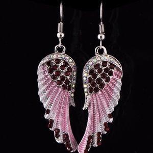 Jewelry - Rhinestone Angel Wing Earrings
